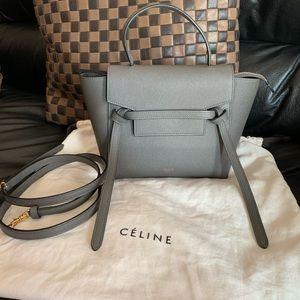 Celine Gray Nano Belt Bag